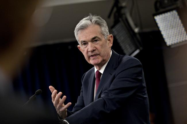 © Bloomberg. Jerome Powell, chairman of the U.S. Federal Reserve, speaks during a news conference following a Federal Open Market Committee (FOMC) meeting in Washington, D.C., U.S., on Wednesday, Dec. 19, 2018.
