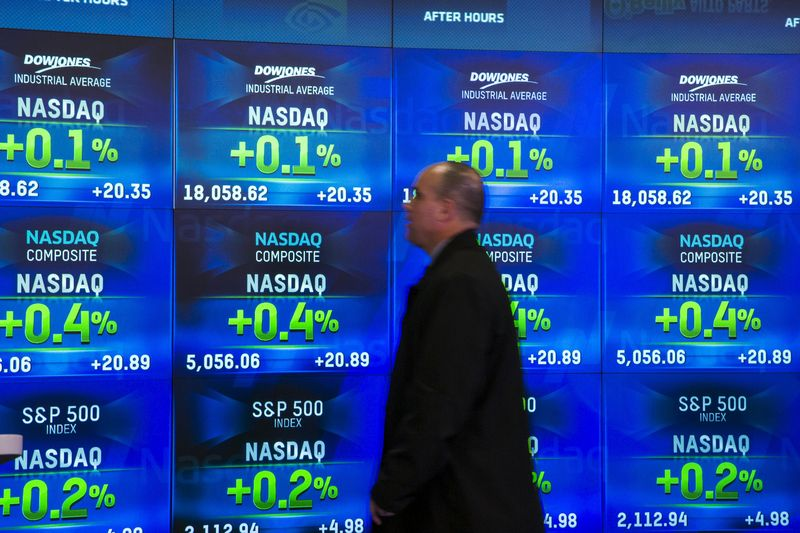 © Reuters.  U.S. shares higher at close of trade; Dow Jones Industrial Average up 0.44%