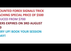 FOREX TRADING SIGNALS TRICK! Book your Coaching Today!